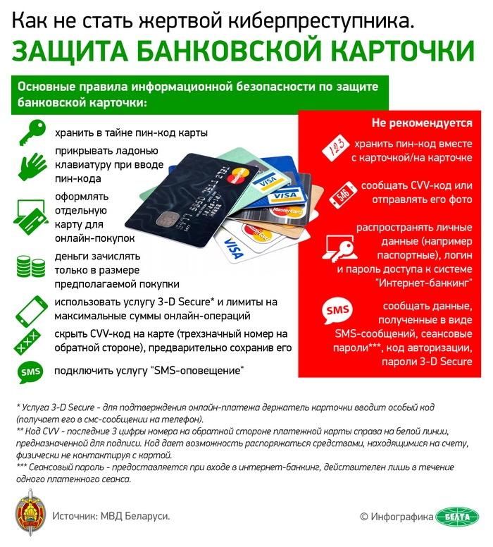 Защита банковской карточки